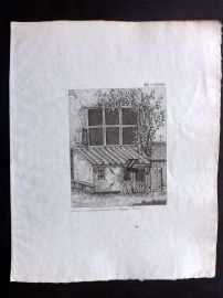 Anon C1800 Antique Print. Study of a Building 133